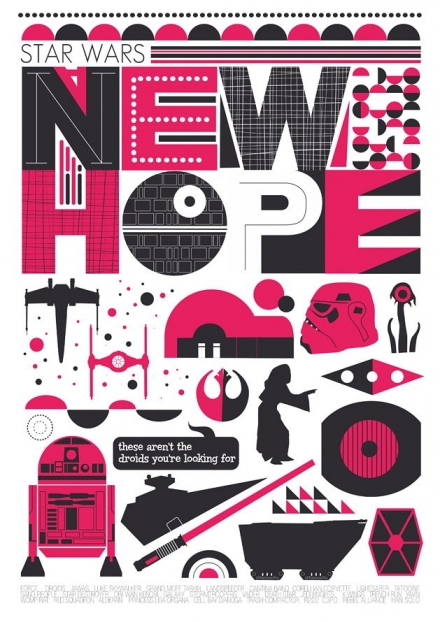 Star Wars - A New Hope poster illustration art